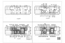 CAD联排别墅户型施工图