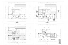 联排别墅户型起居室层CAD施工图