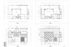 联排别墅户型CAD施工图