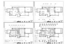 联排别墅CAD施工图纸