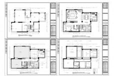 CAD联排别墅户型施工图纸