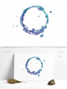 水墨边框彩色渐变矢量元素