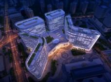 城市综合体设计鸟瞰效果图