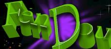 奋斗3D字母