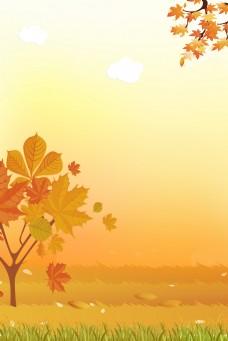 创意合成秋天背景