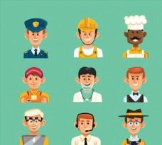9款职业男子头像设计