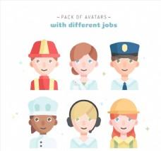 6款不同职业人物头像