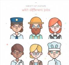 6款创意职业人物头像设计