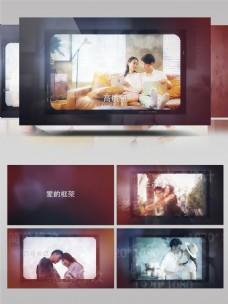 胶片记录爱情生活照片展示AE模板