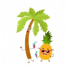 菠萝椰子树