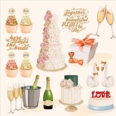 矢量结婚用品插画