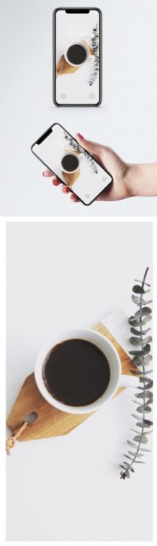 咖啡摆拍手机壁纸