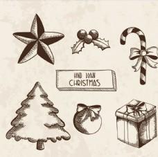 手绘圣诞图纸