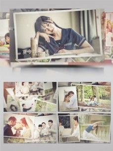 浪漫婚礼家庭时光假期旅游照片展示AE模板