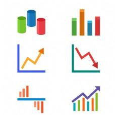创意彩色数据信息图表矢量元素