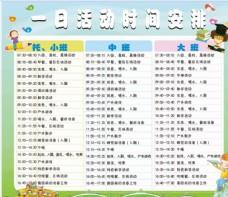 幼儿园一日活动时间表