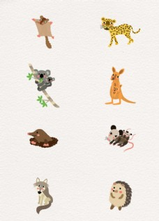 手绘水彩彩绘背景动物海报作业素图片