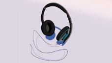 C4D耳机时尚耳机
