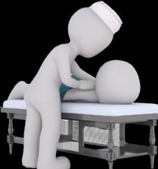 高清免摳立體按摩針灸小人插圖