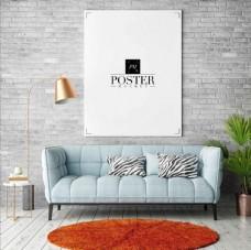 室内挂墙相框海报样机