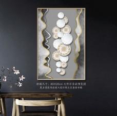新中式立体水墨瓷器装饰画