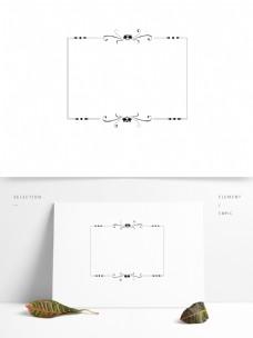 纹理边框欧式线性装饰简洁矢量黑白