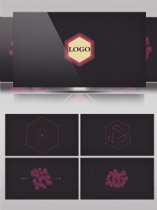 MG图标汇聚logo小动画开场AE模板