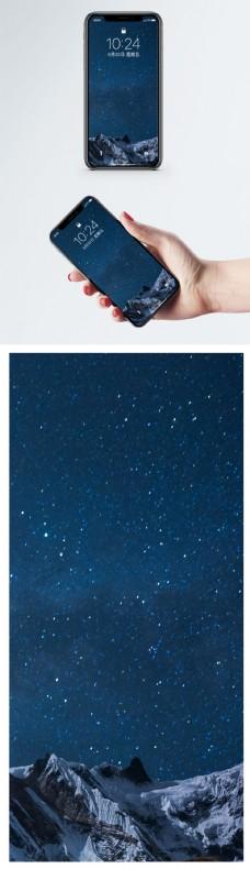 雪山星空手机壁纸