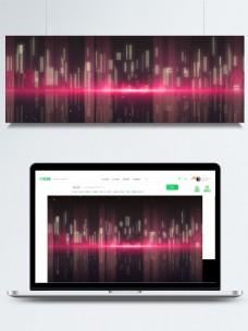 梦幻城市幻影banner背景素材