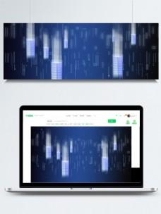 蓝色梦幻科技背景素材
