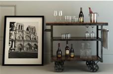 现代北欧风格置物柜设计模型
