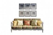欧式田园风家具沙发模型设计