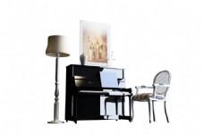 欧式现代钢琴座椅设计模型