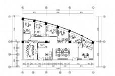 现代办公空间平面图