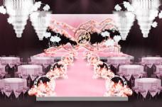 粉色浪漫婚礼效果图