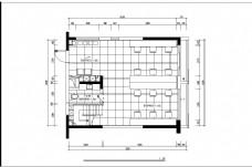 现代设计办公室工装平面图