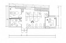 现代简约办公空间平面布置图竣工图