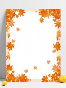 秋叶小清晰背景图