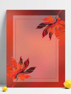 创意简约秋日手绘枫叶背景素材