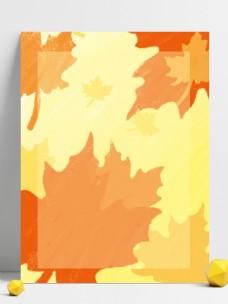 原创黄色秋季枫叶背景
