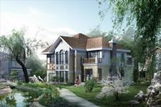 别墅绿化景观