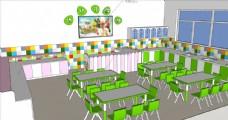 幼儿园小厨房设计文件su