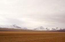 荒漠 戈壁 雪山 荒野风光