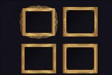 矢量金色相框画框