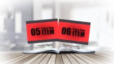 桌面书本翻页商品图片展示