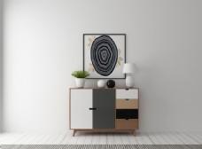 矮柜 挂画 装饰品 3D模型