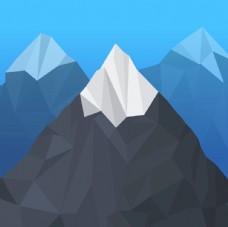 多边形雪山