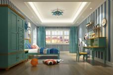 地中海儿童房装饰装修效果图