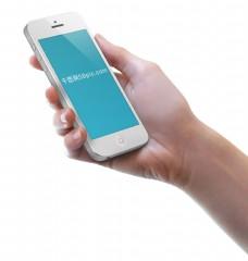场景中的苹果iphone手机样机模板