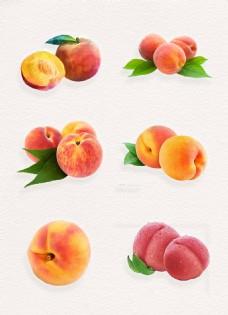高清饱满桃子png设计元素